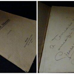 Giuseppe Villaroel  – Le vie del silenzio –  Liriche – Milano Giovanni Puccini & Figli 1914 – Firmato dall'autore