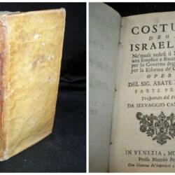 Costumi degl' israeliti e de' cristiani – Abate Fleury – Venezia 1736