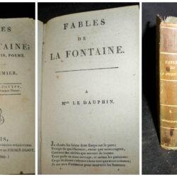 Fables de la Fontaine  suivies d'adonis, poeme – tome 1er Paris 1799