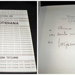 Luciano Ori – Quotidiana – Edizioni Te'chne – 1972 firmata