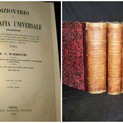 F.C. Marmocchi – Dizionario di geografia universale – Torino  1854+1862 – 4 Vol.