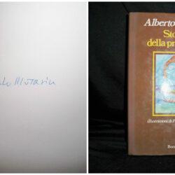 Alberto Moravia Storie della Preistoria  – Bompiani – Milano 1982 – Firmato
