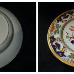 Piatto in ceramica, inglese seconda metà '800