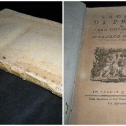 Saggio di prose e versi toscani e latini Averardo de Medici Pescia 1782