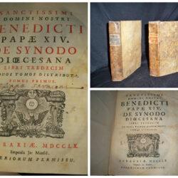 Sanctissimi Domini Nostri Benedicti Papae XIV De Synodo Diocesana -Tomo 1-2 Ferrara 1760