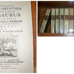 Selectarum rotae florentinae decisionum Thesaurus  Ex biblioteca Iohannis Pauli Ombrosi iuris consulti, et in Florentia curia ad vocati Tomo 1 -11 Florentiae MDCCLXXII