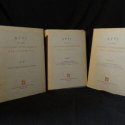 Atti del primo convegno internazionale del credito – Associazione Bancaria Italiana Roma 1953 Voll.1-3