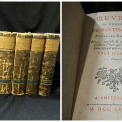 Oeuvres de Monsieur de Montesquieu – Nouvelle Edition – Amsterdam 1785 – Vol.1-7 completo