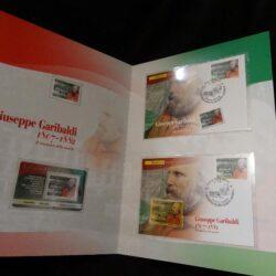 Folder Giuseppe Garibaldi 1807-1882 Il Centenario della nascita – Completo