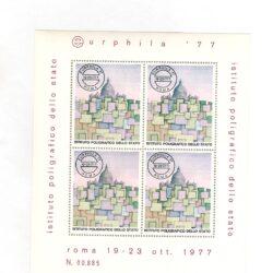 Italia 1977 Foglietto Eurphila '77 Istituto poligrafico dello Stato – nuovo