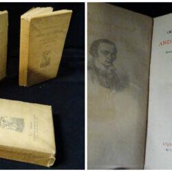 Oeuvres poetiques Andre de Chenier – Avec une notice et des notes par Gabriel de Chenier – Paris Alphonse Lemerre – 3 volumi