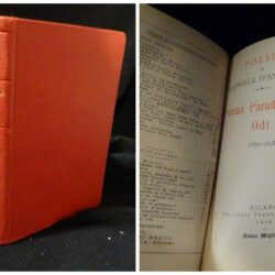Poesie di D'Annunzio Poema paradisiaco Odi navali 1891-1893 – Milano Treves 1910