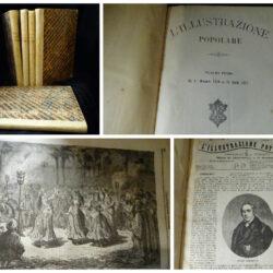 L'illustrazione popolare 5 volumi dal 1° novembre 1869 al 28 aprile 1872 – Milano Treves editore
