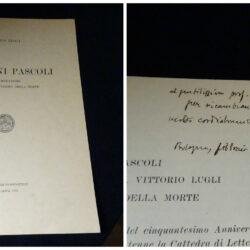 Vittorio Lugli – Giovanni Pascoli Commemorazione del cinquantesimo della morte – Tipografia Compositori Bologna 1964 firma autore