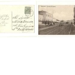 Cartolina Mantova Stazione Ferroviaria