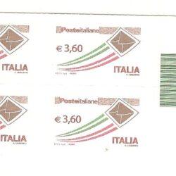 Italia Repubblica 2013 Poste Italiane quartina Codice a barre