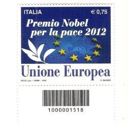 Italia Repubblica 2012 Premio Nobel per la Pace 2012 all'Unione Europea