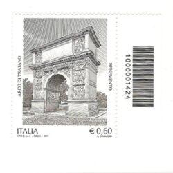 Italia Repubblica 2011 Patrimonio Artistico e culturale italiano 91° emissione Arco di Traiano