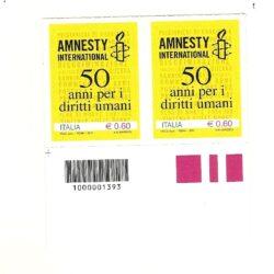 """Italia Repubblica 2011 50° Anniversario della fondazione di """"Amnesty International"""" 50 anni per i diritti umani"""