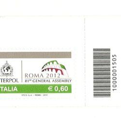 Italia Repubblica 2012 81° Assemblea Generale dell'Organizzazione Internazionale di Polizia Criminale (Interpol)