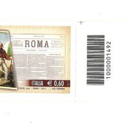 """Italia Repubblica 2012 150° Anniversario della fondazione del quotidiano """"Roma"""""""