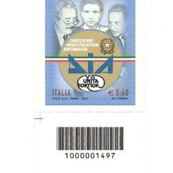 Italia Repubblica 2012 Le Istituzioni 38° emissione Direzione investigativa Antimafia