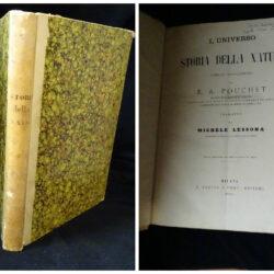 L'universo Storia della natura – F. A. Pouchet – Tradotta da Michele Lessona – Milano Treves 1869