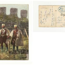 Cartolina Muratori Albanesi, Timbro Milizia Volontaria
