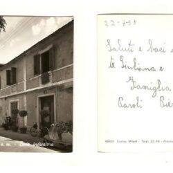 Cartolina S. Baronto (Pistoia) Bivio Indicatore