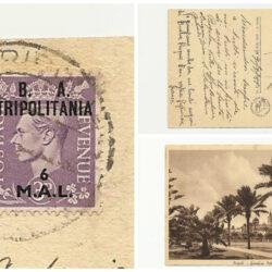 Tripolitania 6 m su 3P (19 Sassone ) su cartolina Tripoli