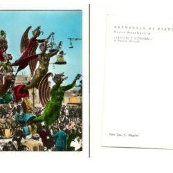 Cartolina Carnevale di Viareggio Corso Mascherato