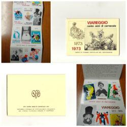 Viareggio cento anni di carnevale 1873 1973 Serie cinque cartoline del centenario