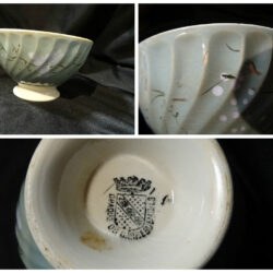 Opaque de Sarreguemines Scodella in ceramica – piccola celeste
