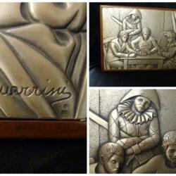 Pietro Guerrini opera su lastra in argento 925 – Maschere