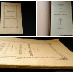 Regolamento d'ordine interno per la esecuzione dello statuto organico della Confraternita di Misericordia di Lucca – Tipografia Baccella 1880