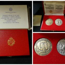 San Marino medaglie argento e bronzo Visita Presidente della Repubblica Italiana Sandro Pertini