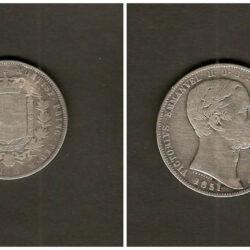 5 Lire 1851 Regno d'Italia Vittorio Emanuele II – Torino  – MB/BB R2