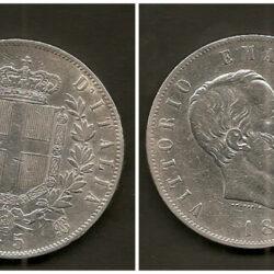 5 Lire 1875 Regno d'Italia Vittorio Emanuele II, M