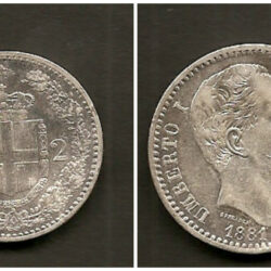 2 Lire 1881 Umberto I, BB