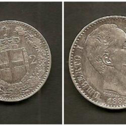 2 Lire 1882 Umberto I, BB