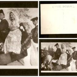 Cartolina Sardegna, coppia sarda a cavallo – non viaggiata