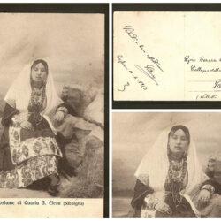 Cartolina costume di Quartu S. Elena , Sardegna – viaggiata