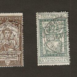 Italia Regno 1921 Serie centenario della morte di Dante Alighieri – usato