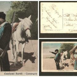Cartolina Sardegna, Costumi Sardi Campagna di Laerru – viaggiata