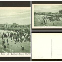 Cartolina Cagliari Poetto Lido – spiaggia –  non viaggiata