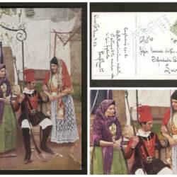 Cartolina Sardegna, N°7 Panattare e miliziano di Cagliari