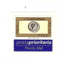 Italia Repubblica 2001 Posta Prioritaria 3° emissione – nuovo