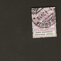 Regno d'Italia 1924 Parastatali 50c. Cassa Nazionale Assicuraz. Sociali