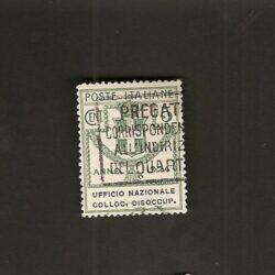 Regno d'Italia 1924 Parastatali 5c. Ufficio Nazionale Colloc. Disoccup.