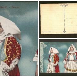 Cartolina Sardegna, Costumi sardi Sennori